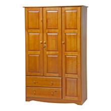 Grand Wardrobe - Honey Pine