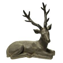 Brown Resin Deer, Sitting