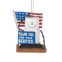 """S'mores """"Thank You for Your Service"""" Military Ornament"""