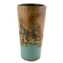 Textured Turquoise Conic Planter