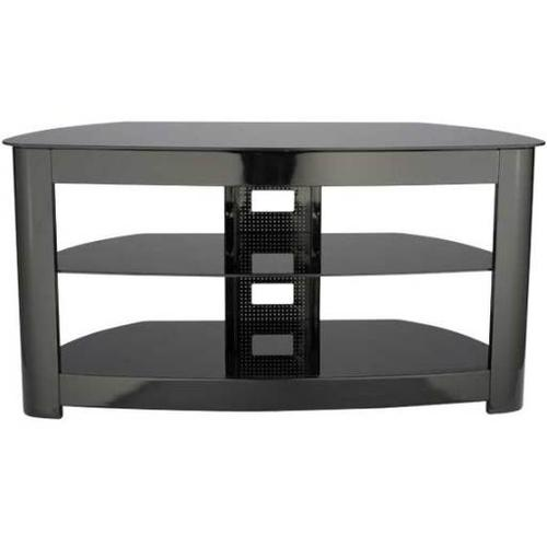 """Product Image - Black Audio Video Stand Black lacquered finish - fits AV components and TVs up to 56"""""""