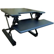 See Details - Hanover 27-In. Wide Black Tabletop Sit or Stand Lift Desk with Adjustable Height for Offices, Schools, and Writing Stations, HSD0401-BLK