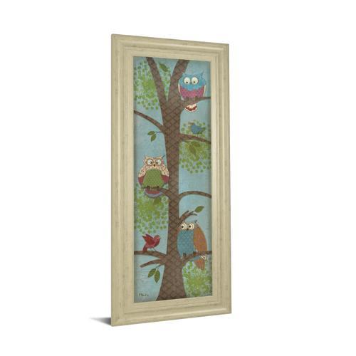 "Classy Art - ""Fantasy Owls Panel Il"" By Paul Brent Framed Print Wall Art"