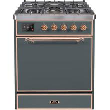 30 Inch Blue Grey Dual Fuel Natural Gas Freestanding Range