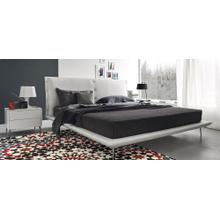 Upholstered queen size bed