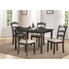 Grey 5pc Dining Set - Linen Seat