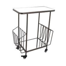 2-tier Metal Bar Cart: Mirrortop, Kd