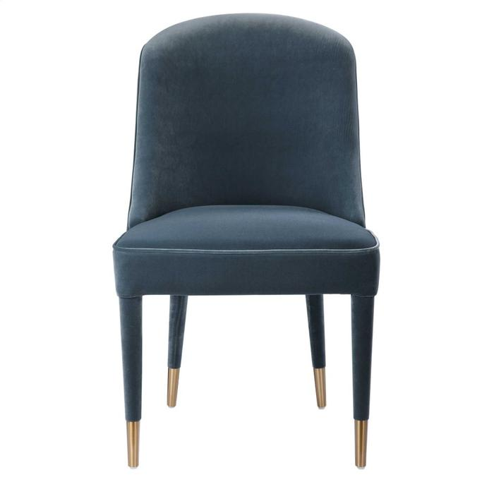 Uttermost - Brie Armless Chair, Blue, 2 Per Box