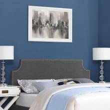 Laura Full Upholstered Fabric Headboard in Gray