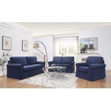 Ashton Slipcover Sofa Cottage Style In Navy Fabric