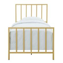 Metallic Gold Slat Twin Metal Bed