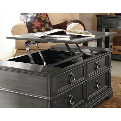 Garrison Coffee Table Lift Top, Grey