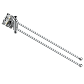 "Towel bar 15 3/4"" long, double swivel"