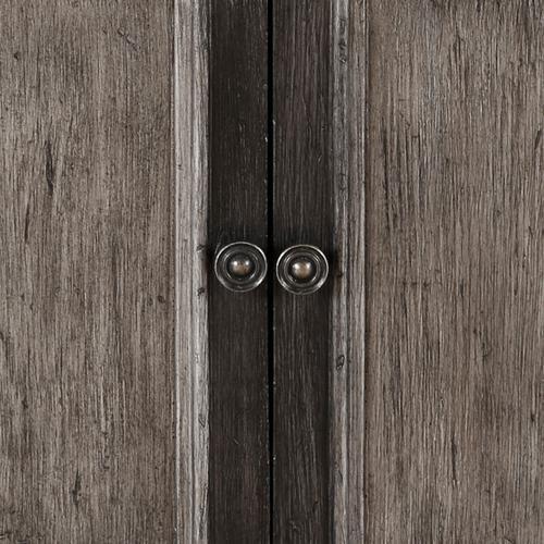 Two Door Hall Chest in Black & Brown