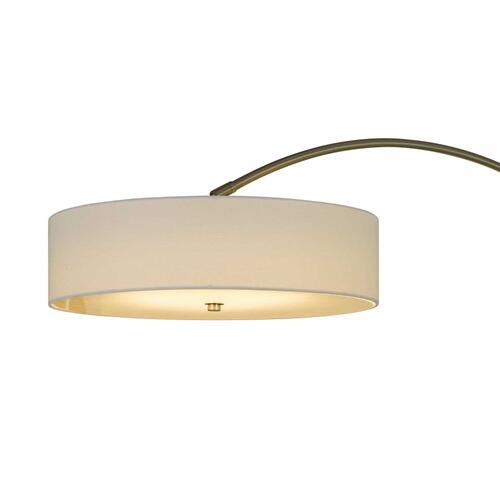 Chardon LED 36W 2500 Lumen, 3K Adjustable Metal Arc Floor Lamp With Dimmer Switch