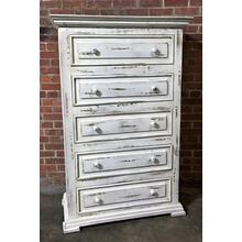 MIC3700CHEST  Chalet Chest - ASPEN GRAY (Shown in White)