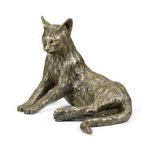 Antique Dark Bronze Cat