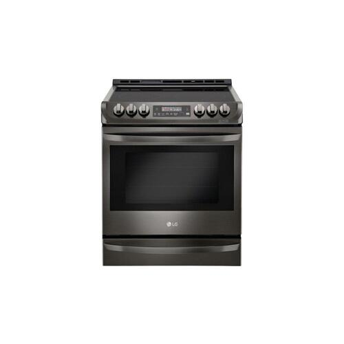 LG - LG Black Stainless Steel Series 6.3 cu. ft. Electric Slide-in Range with ProBake Convection® and EasyClean®