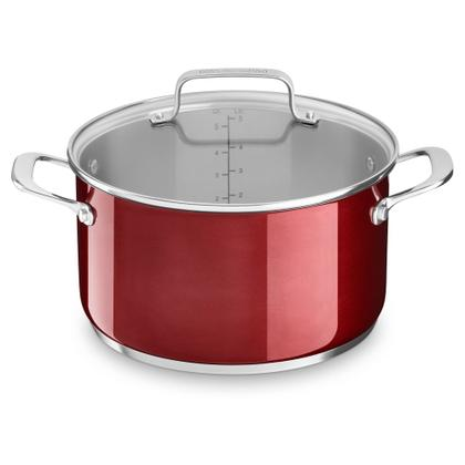 5.7 L Low Casserole With Lid - Polished Stainless Steel