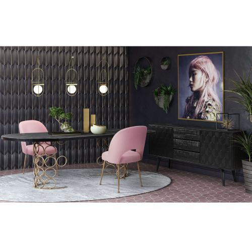 Tov Furniture - Valentina Brass Dining Table