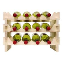 3 x 4 Bottle Modular Wine Rack (Natural)