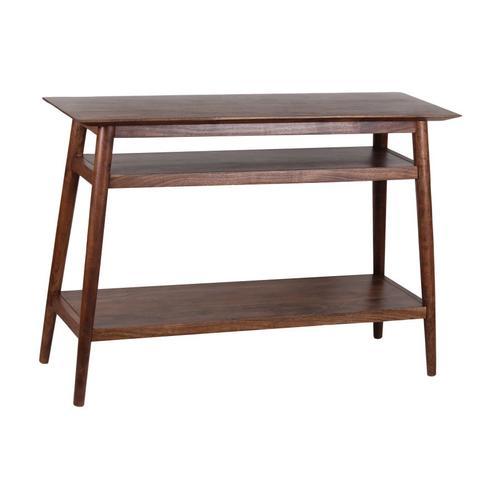 See Details - Portola Walnut Console Table with Shelf, 2005-002WW