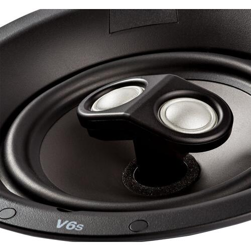 Vanishing V Series Switchable Stereo and Surround Sound In-Ceiling Speaker in White