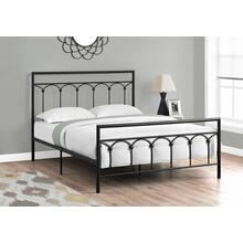 BED - QUEEN SIZE / BLACK METAL FRAME ONLY