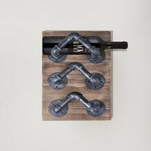 Armen Living Hawk Industrial Wine Rack