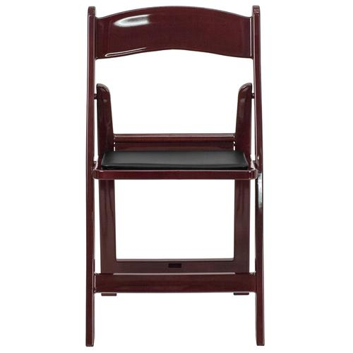 Flash Furniture - Hercules™ Folding Chair - Red Mahogany Resin - 1000LB Weight Capacity - Comfortable Event Chair - Light Weight Folding Chair