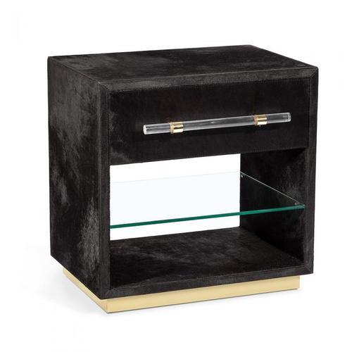 Cassian Bedside Chest - Black/ Brass