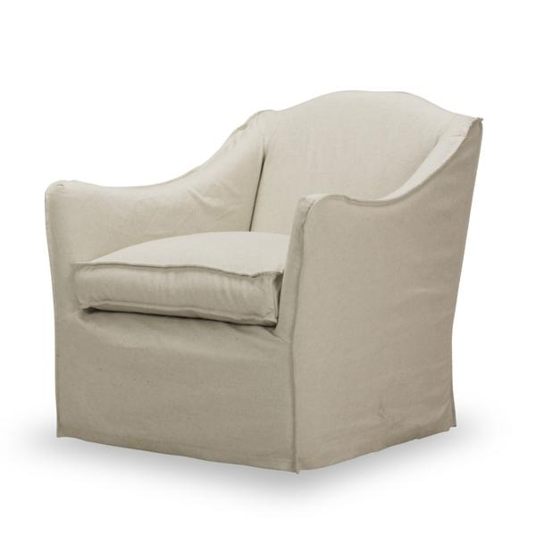See Details - Keith Slipcovered Swivel Glider in Milar Natural