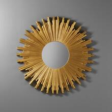 Round Starburst Mirror-Gold Leaf