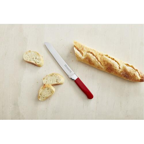 Classic Forged 8-Inch Candy Apple Red Scalloped Bread Knife