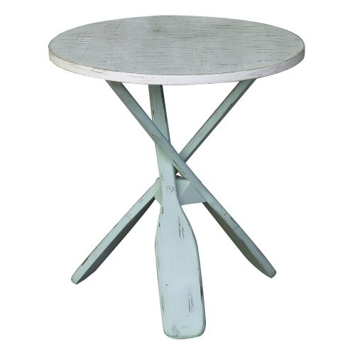 Crestview Collections - Chesapeake Two Tone Paddles Accent Table