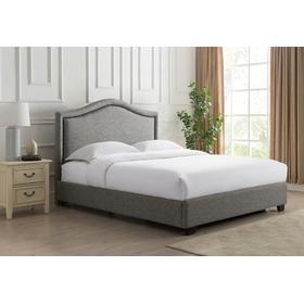 Grayling Platform Bed - King, Granite