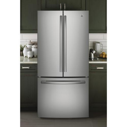 GE Appliances - GE® ENERGY STAR® 18.6 Cu. Ft. Counter-Depth French-Door Refrigerator