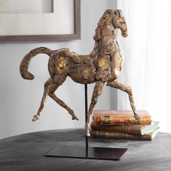 Caballo Dorado Sculpture