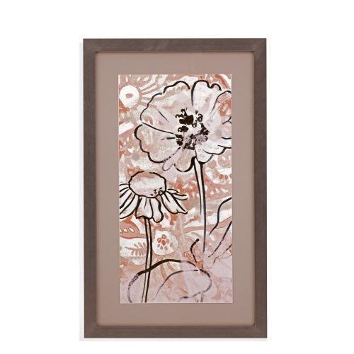 Bassett Mirror Company - Gold Boho Floral I