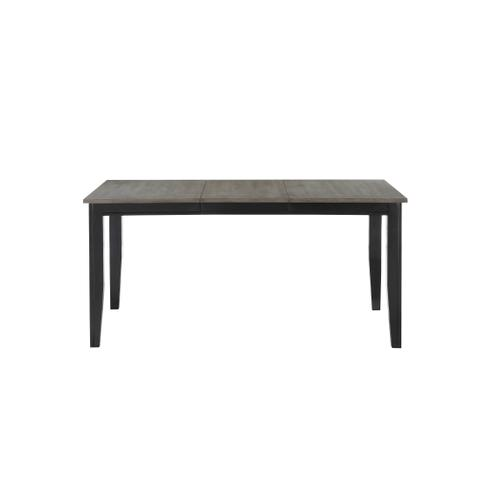 Merrill Creek Removable Leaf Dining Table, Charcoal & Ebony 8207-3866