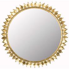 See Details - Leaf Crown Sunburst Mirror - Antique Gold