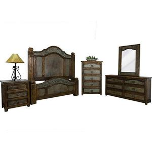 L.M.T. Rustic and Western Imports - King Margarita Copper Bed