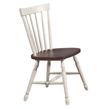 See Details - Windsor Spindle Back Dining Chair - Antique White and Chestnut Brown (Set of 2)