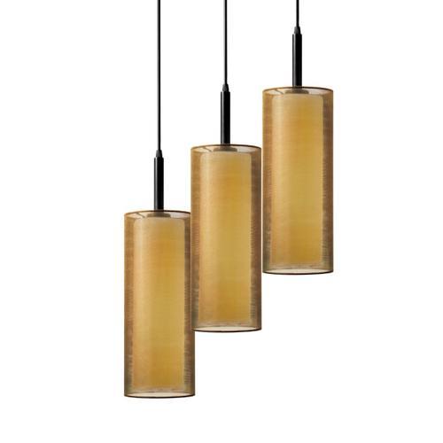 Sonneman - A Way of Light - Puri 3-Light Pendant [Color/Finish=Black Brass w/Bronze Shade]