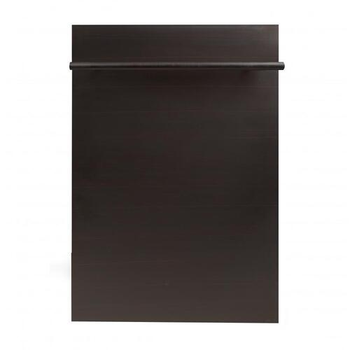 Zline Kitchen and Bath - 18 in. Compact Top Control Dishwasher 120-Volt with Stainless Steel Tub and Modern Style Handle [Color: Black Matte]