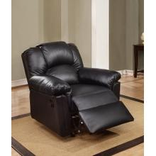 Izem Reclining/Motion Loveseat Sofa or Recliner, Black-bonded-leather, Glider-recliner