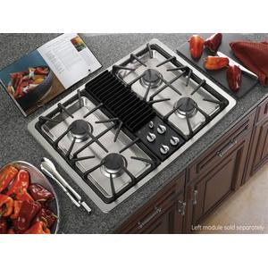 GE Profile™ Series Built-In Downdraft Gas Modular Cooktop