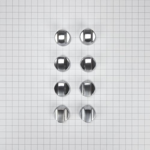 Cooktop Burner Control Knob Kit, Stainless Steel - Other