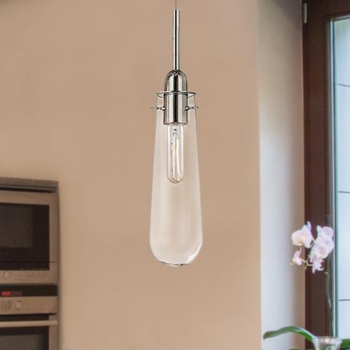 Sonneman - A Way of Light - Teardrop Pendant [Size=8-Light, Color/Finish=Polished Chrome w/Clear Glass]