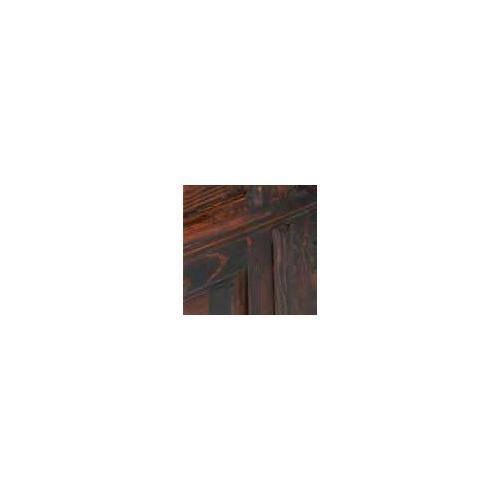 Rustic Heritage - Dark Cowhide Executive Desk W/ Star No Rope